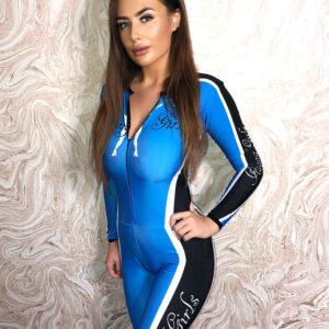 Grid Girl Catsuit – Zip – Blue Racing Girls – Pre-order
