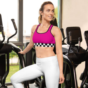 Private: Pink Racer Girl – Sports Bra