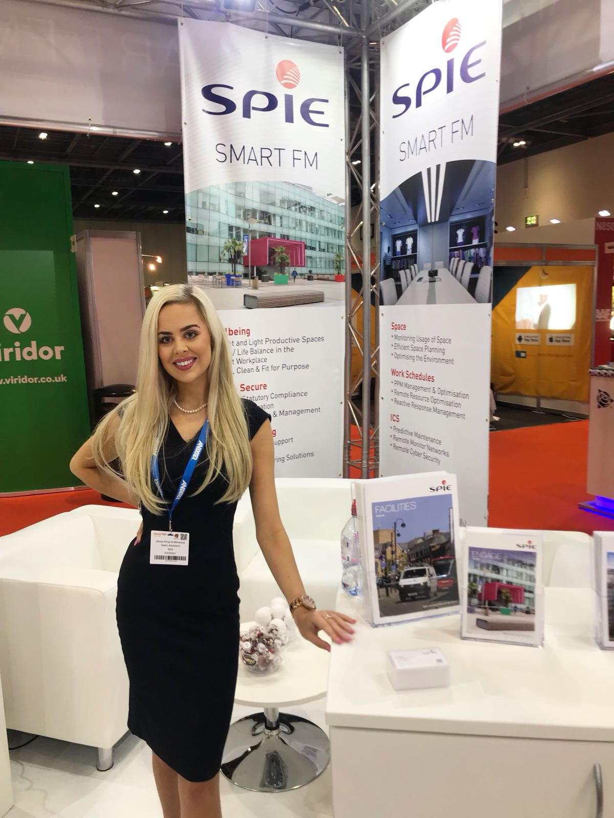 Promotional Model with Spie for Facilities Show on 19th till 21st June