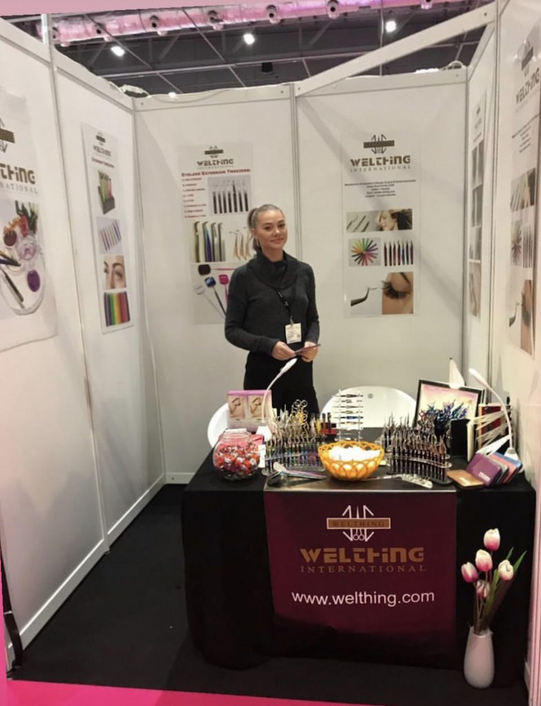 Promotional Model for Welthing International at the Professional Beauty Show at the Excel London on 24th February 2019