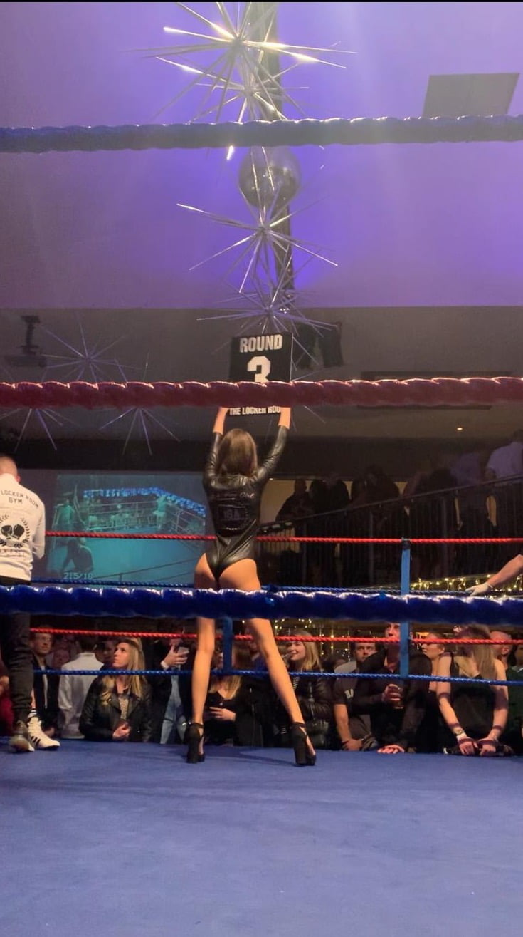 Ring Girls IBA Boxing Leigh on Sea Essex 29th November 2019 01