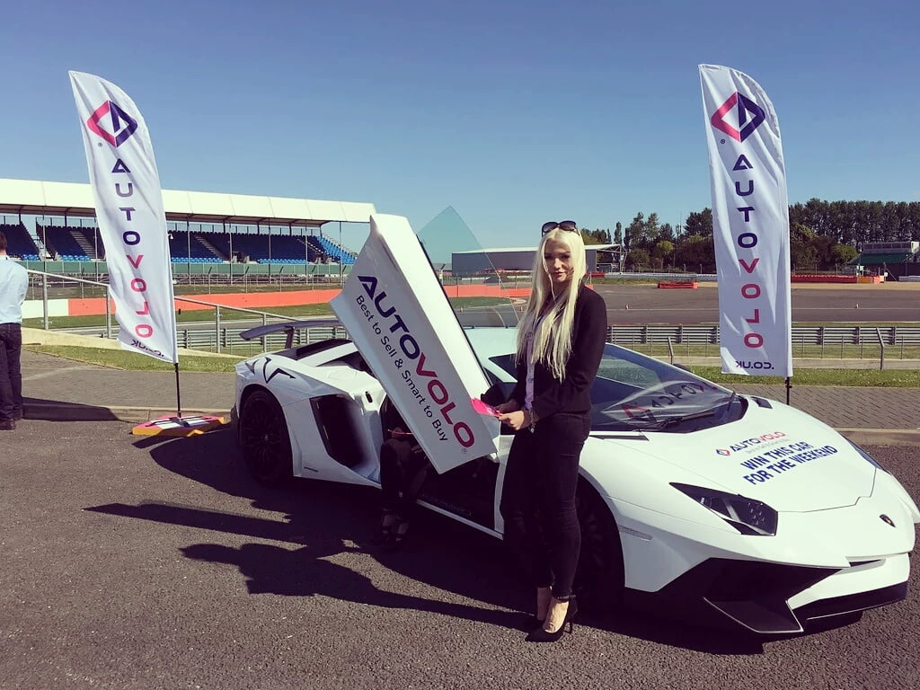 Promotional Models At Silverstone Racetrack